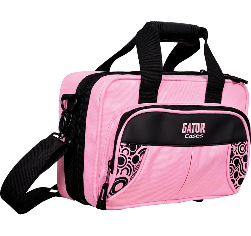 Gator Cases GL-CLAR-PINK-A Newly Designed Clarinet Lightweight Case - Pink