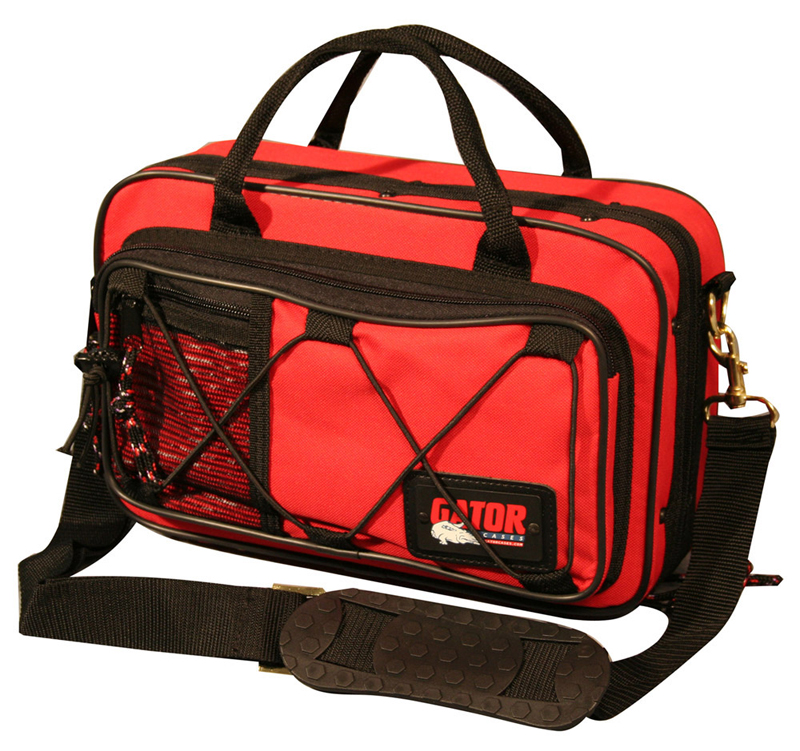 Gator Cases GL-CLAR-RED-A Newly Designed Clarinet Lightweight Case - Red