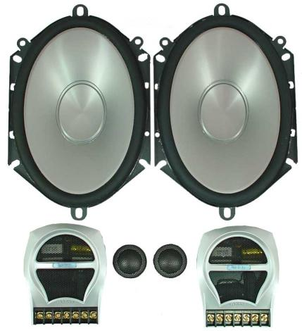 "Infinity 6820cs Car Audio Reference 5x7"" 6x8"" Component Speakers Set"