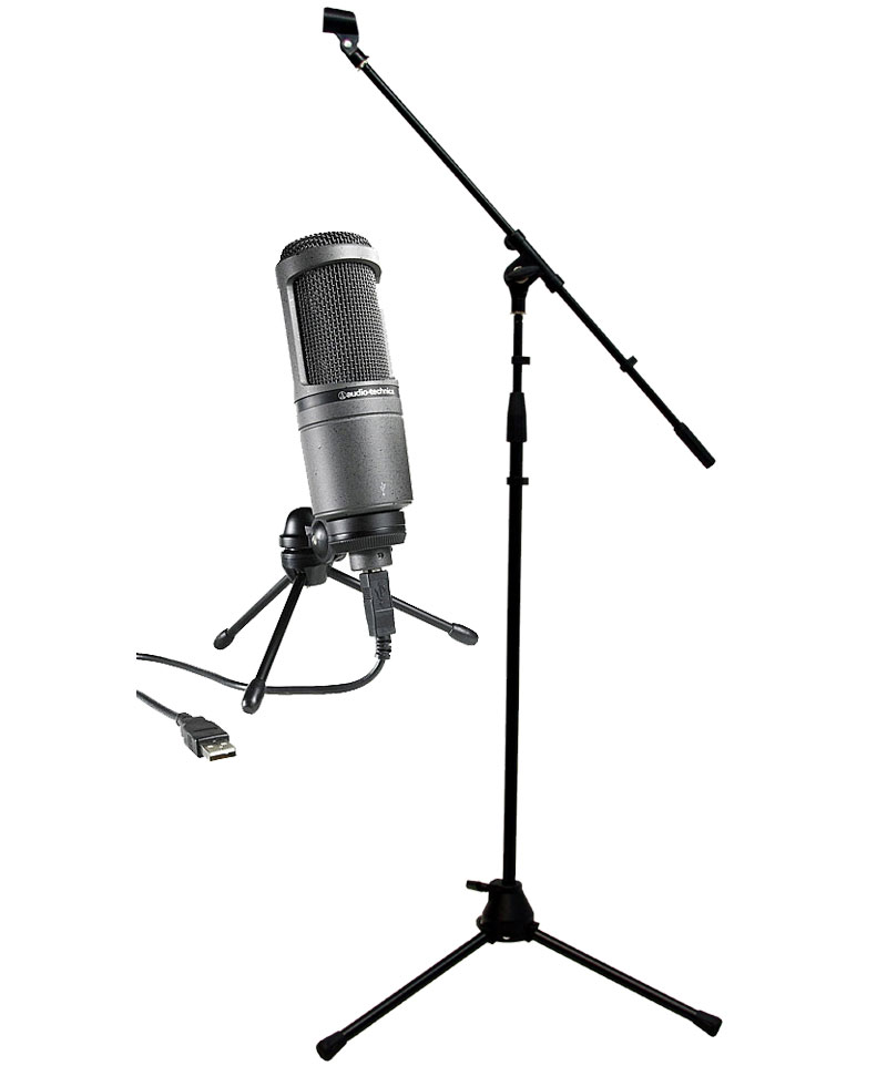 how to use condenser microphone as a boom mic