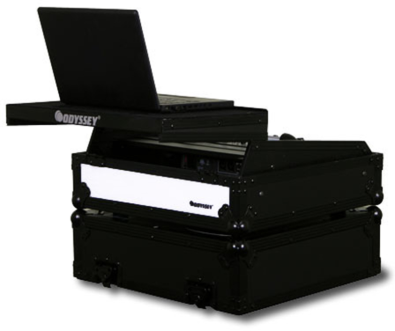 """Odyssey FFXGS10BL Flight FX Series Glide Style Case for 19"""" Rackmount Mixers"""