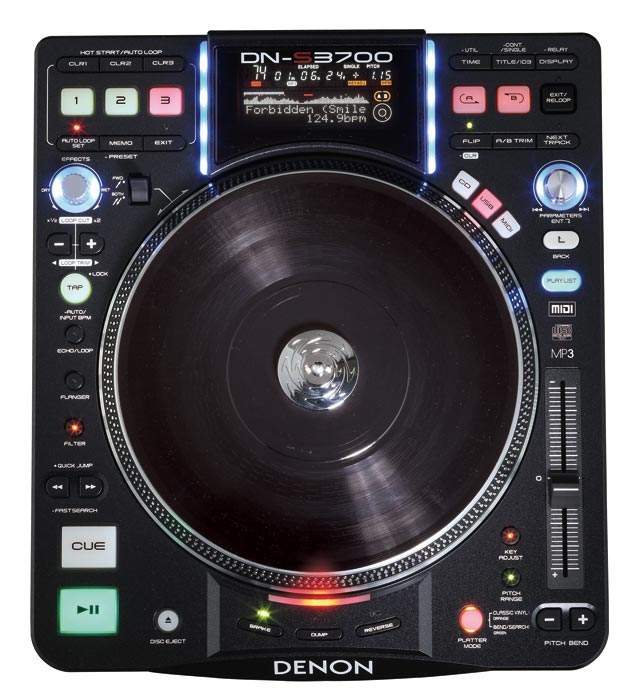 Denon DJ DN-S3700 Direct Drive Turntable Media Player & Controller (DNS3700) - Limited Quanities!
