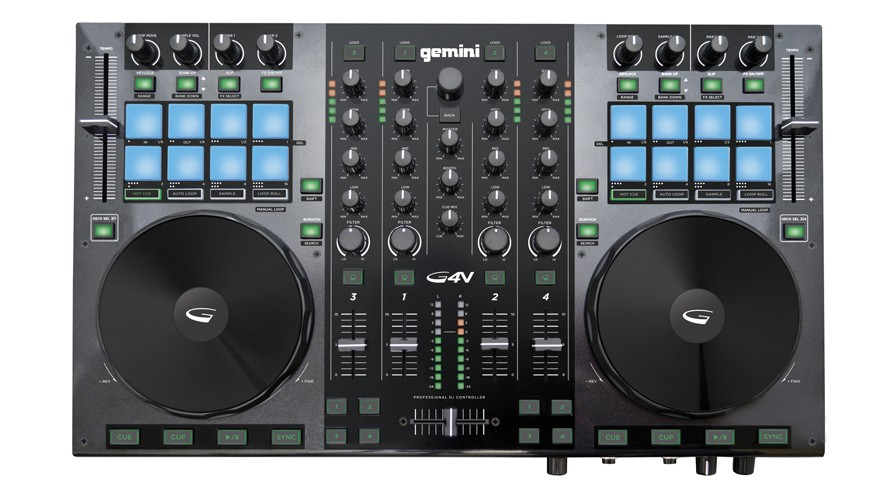 Gemini G4V Virtual MIDI Controller with Built-In 4-Channel Mixer 3 Band EQ