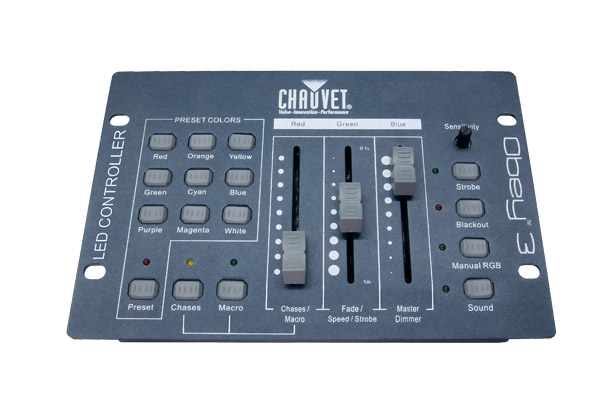 Chauvet DJ Obey 3 Compact DMX Controller for LED Lights w/ 3 Channel Mode Only RGB