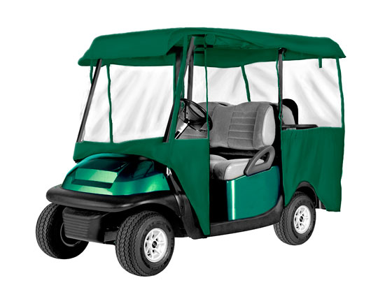 Armor shield 4 passenger golf cart 4 sided enclosure olive for Golf cart garage door prices