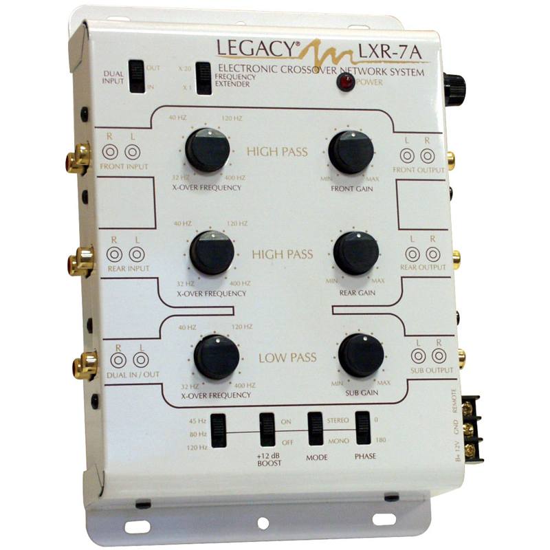 Electronic Crossover Network : Legacy car audio lxr way stereo electronic crossover
