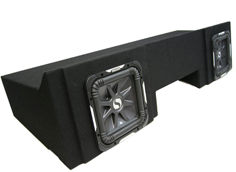 "GMC Sierra 1999-2006 Extended Cab Truck Dual 10"" Square Kicker S10L7 Subwoofer Sub Box Package"