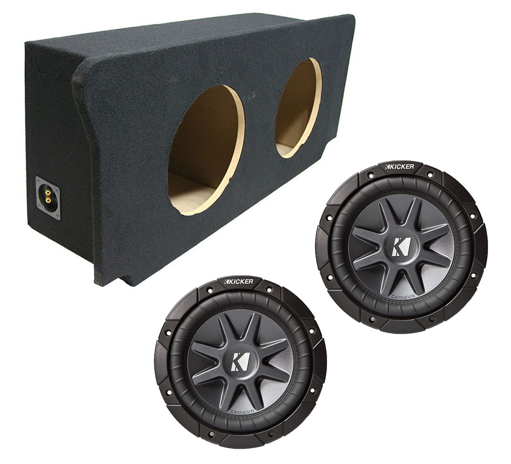 "2008-2015 Dodge Challenger Dual 12"" Kicker CVR12 1600 Watt Subwoofer  Enclosure Loaded Sub Box"