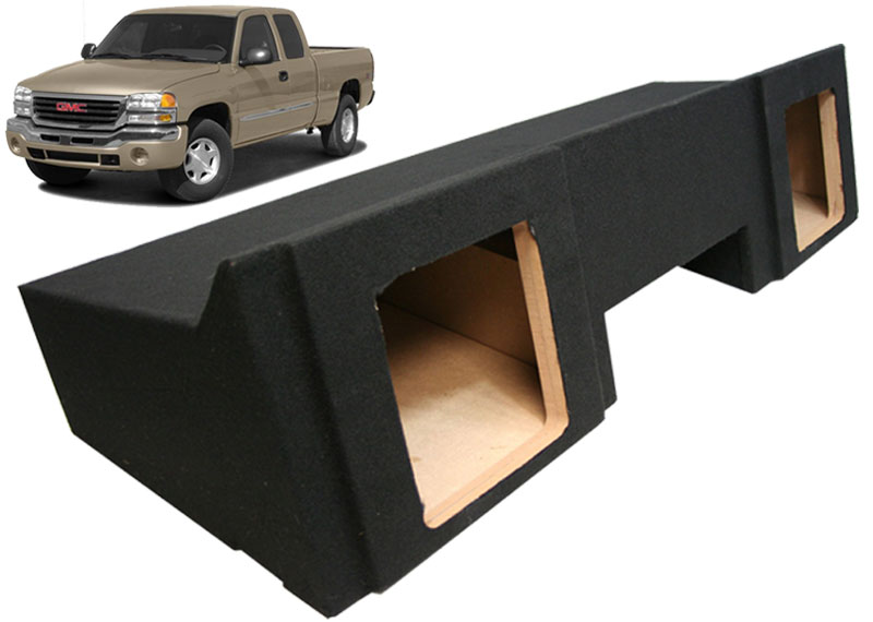 1999 2006 Gmc Sierra Extended Cab Truck Dual 10 Kicker Square Subwoofer Enclosure Sub Box