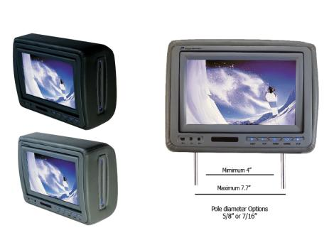HDVD-4GRDK Car Headrest DVD Player from Power Acoustik