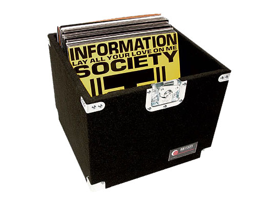 Odyssey Cases CLP100P Carpeted Pro LP Case with Recessed Hardware for 100 Vinyl LP's