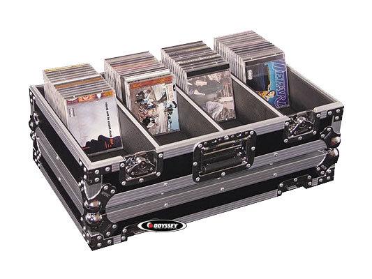 Odyssey Cases FZCD320 Heavy Duty DJ CD/Jewel Case with Room for 320 Viewpack CD's or 106 Jewel Cases