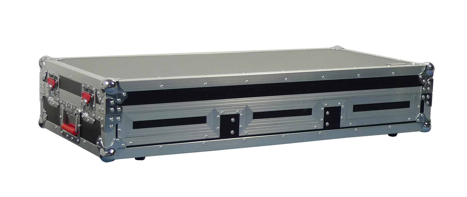 """Gator Cases G-TOUR COF-SMCD10-ARM1-PL Small DJ COFFIN CASE with 10"""" Format Mixer Section & DJARM Laptop Tray"""
