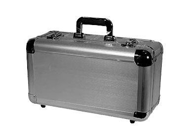 Odyssey Cases KCD200-SIL Silver KROM DJ Case Holds 200 View Pack / 65 Jewel Case CDs