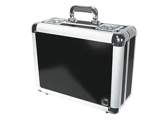 Odyssey Cases KCD300-BLK Black KROM Series DJ Case Holds 300 View Pack / 100 Jewel Case CDs