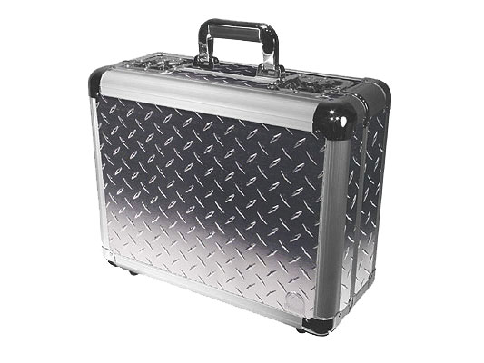 Odyssey Cases KCD300-DIA Silver Diamond KROM Series DJ Case Holds 300 View Pack / 100 Jewel Case CDs