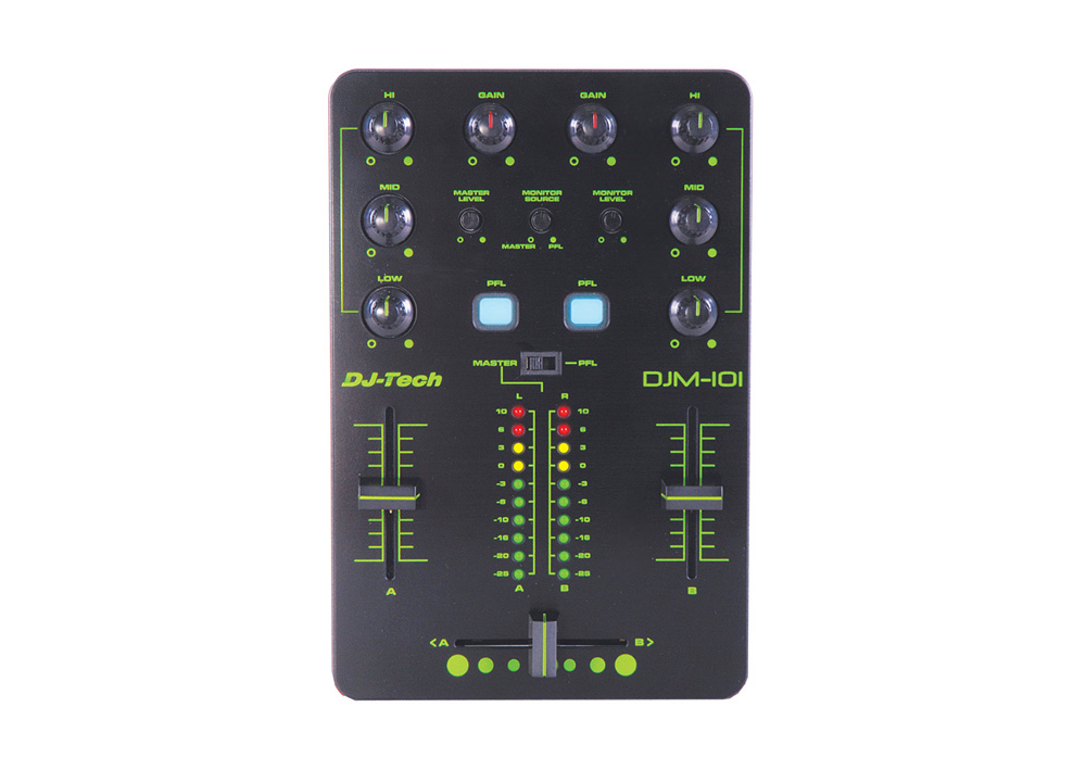 DJ Tech DJM-101 Mini USB Powered Controller with 8 Selectable MIDI Channels