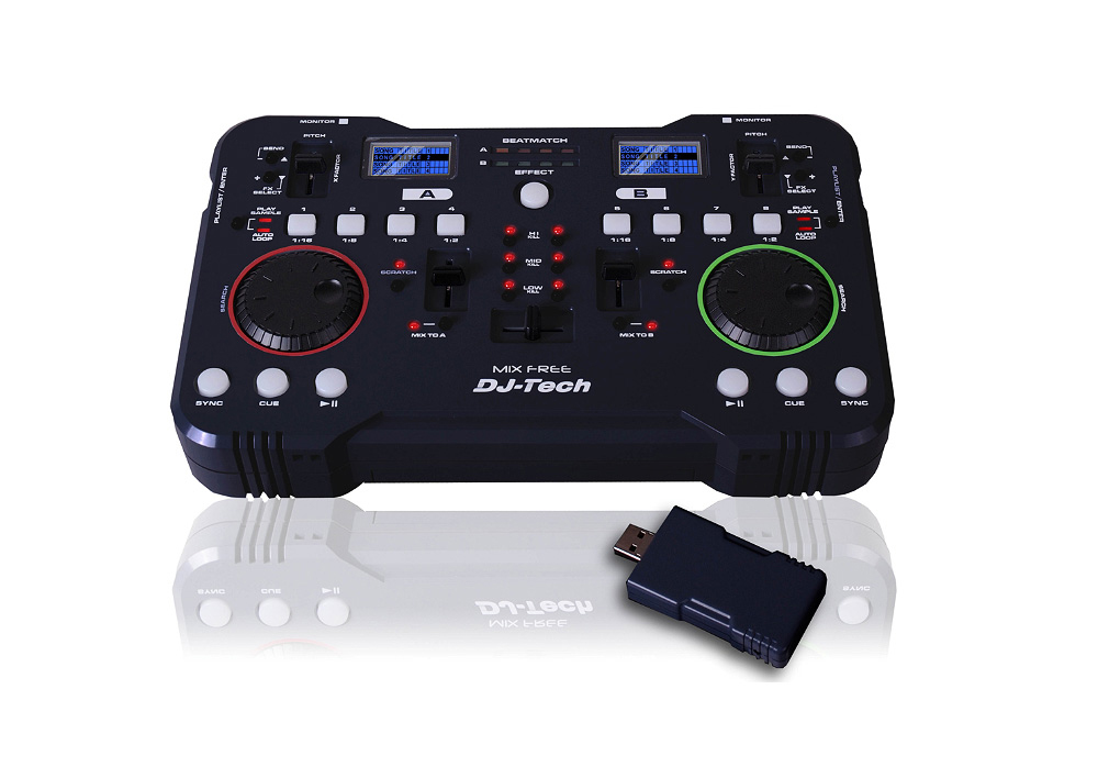 DJ Tech Mix Free Wireless DJ USB Mini-Controller for PC / MAC