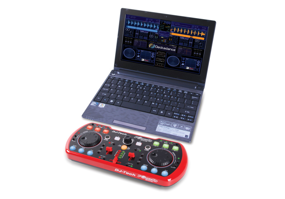 DJ Tech Poket DJ Duo USB DJ Controller with Integrated Soundcard