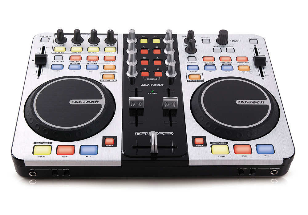 DJ Tech Reloaded 6-Deck USB DJ Controller with Audio Interface Built-in
