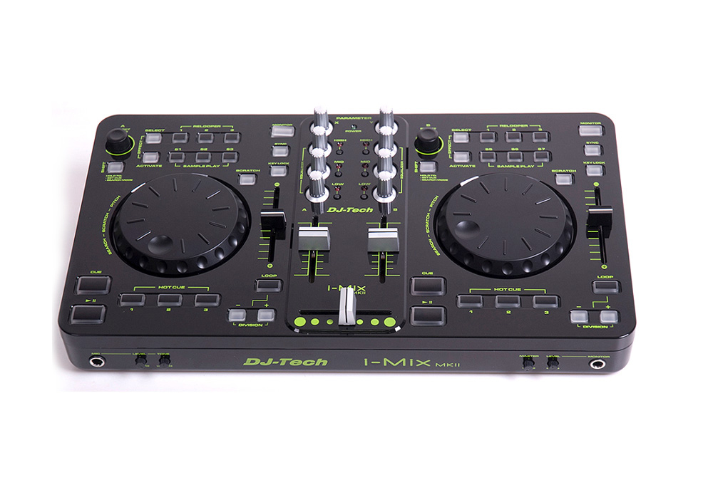 DJ Tech i-Mix MKII DJ Control Surface with Audio I/O and Software