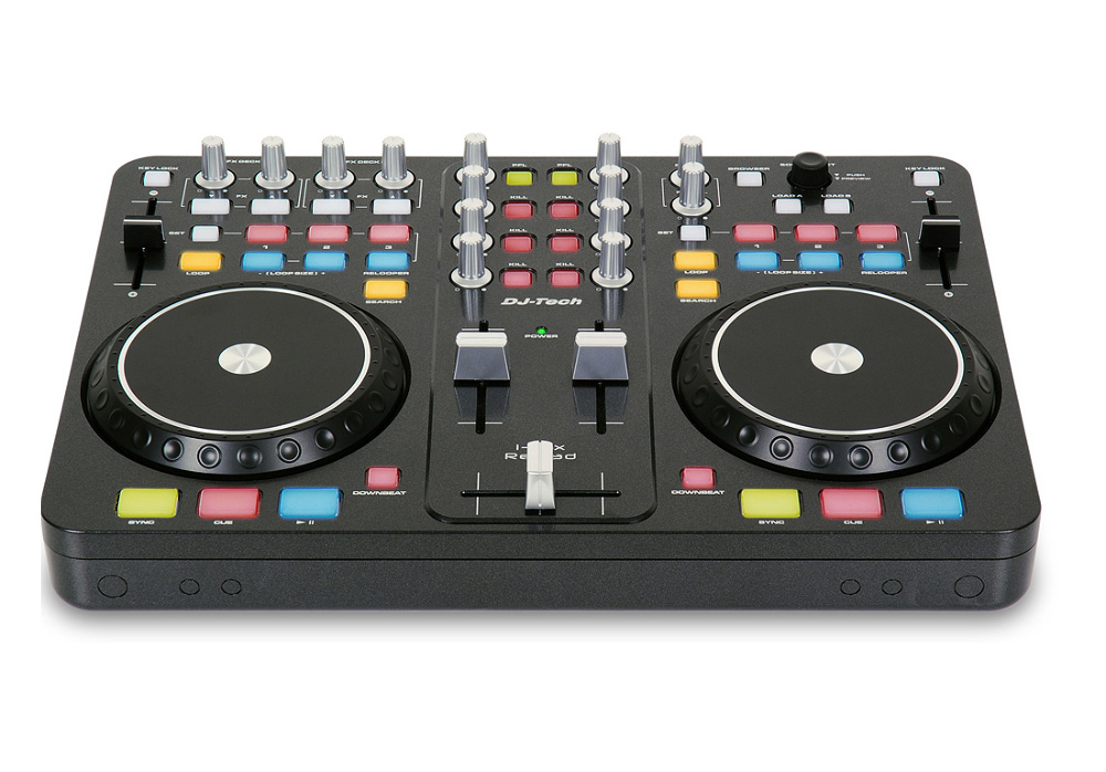 DJ Tech i-Mix Reload (Black) Portable USB DJ mixer & Scratch Controller + DJ Software