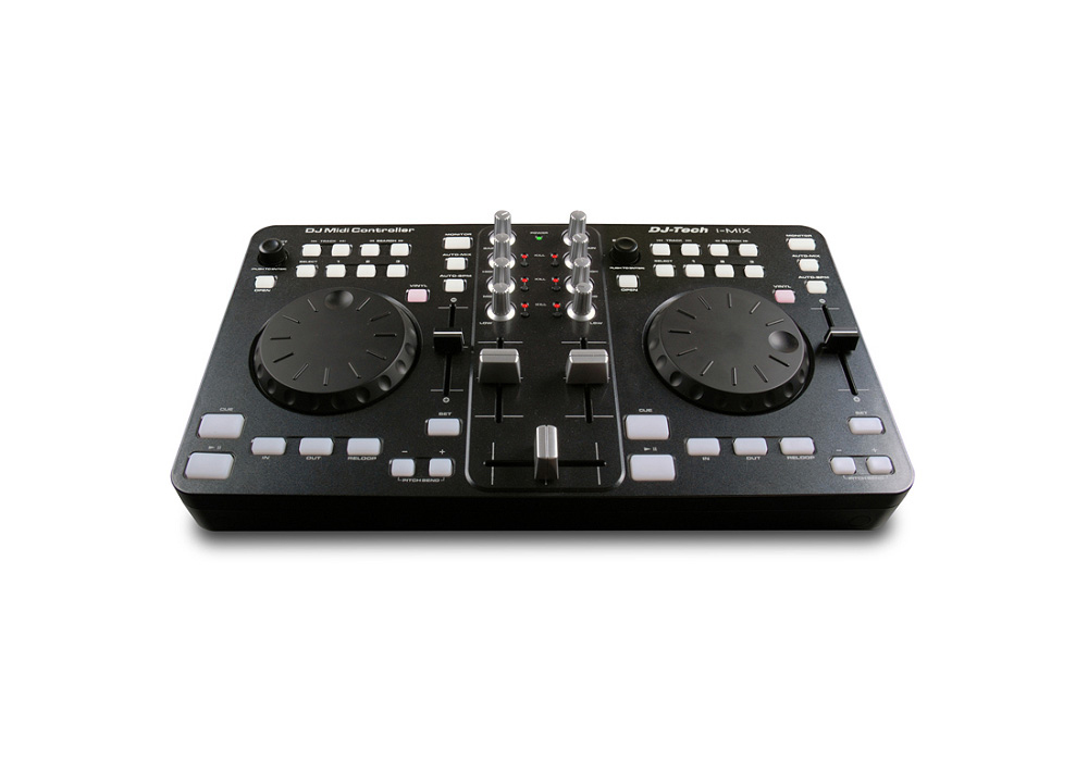 DJ Tech i-Mix Portable USB DJ Mixer & Scratch Controller