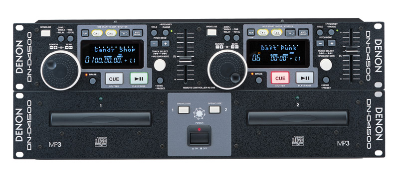 Denon DJ DN-D4500 Professional Dual CD / MP3 Compact Disc Player (DND4500) - Limited Quanities!