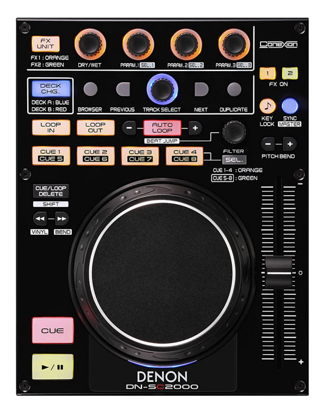 Denon DJ DN-SC2000 USB / MIDI Controller Unit with 2-Deck Control Support (DNSC2000)