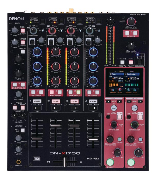 Denon DJ DN-X1700 Professional 4-Channel Digital Mixer with V-Link (DNX1700) - Limited Quanities!