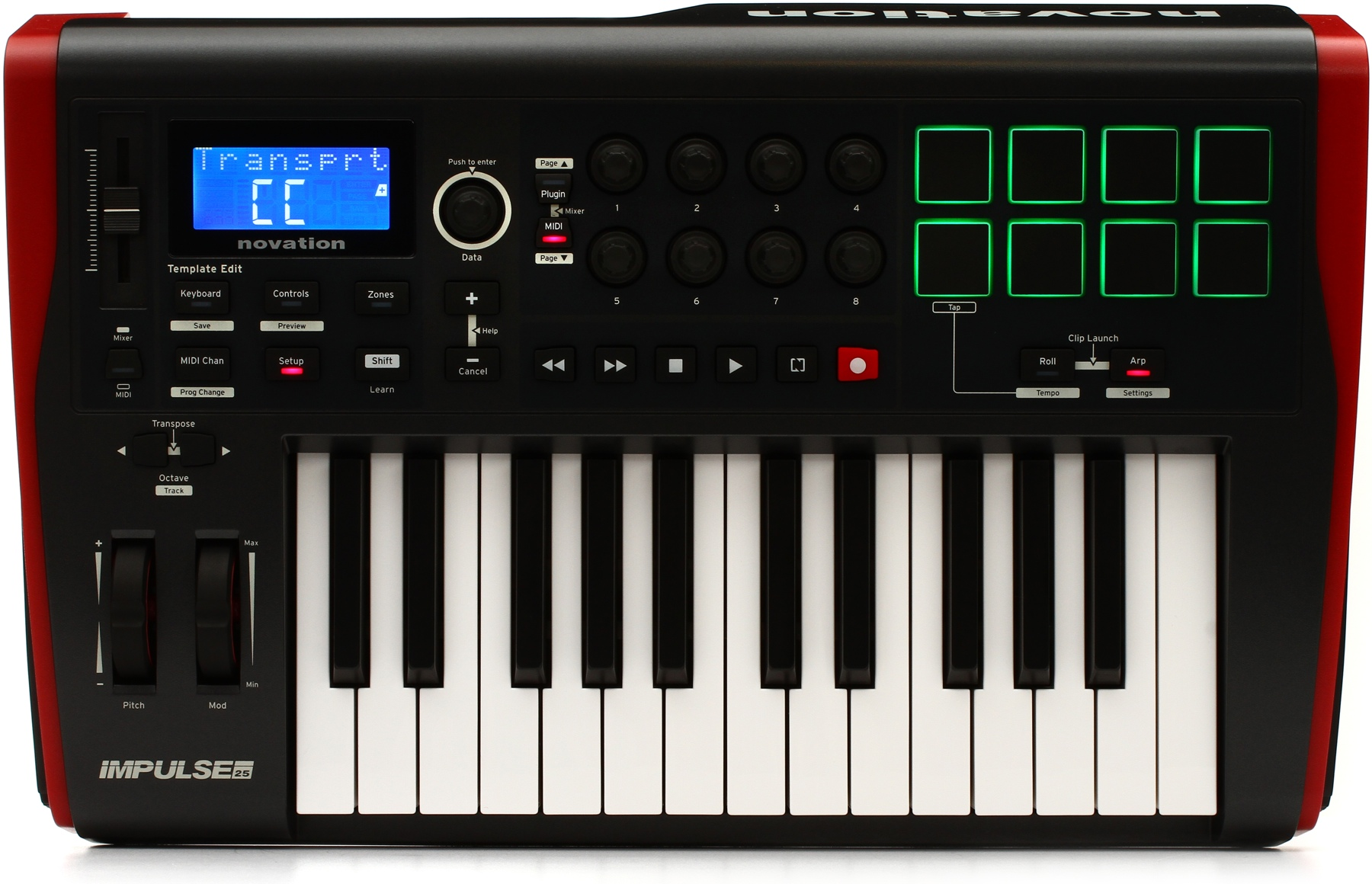 novation impulse 25 25 note usb midi controller w semi weighted velocity sensitive keys nvt16. Black Bedroom Furniture Sets. Home Design Ideas