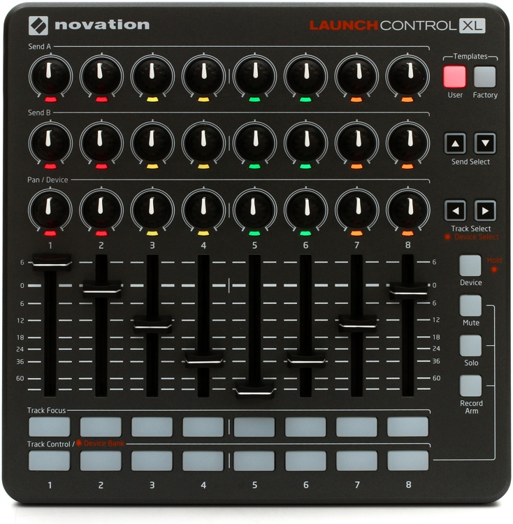 novation launch control xl ableton live usb midi controller w 24 rotary knobs nvt16 ams. Black Bedroom Furniture Sets. Home Design Ideas