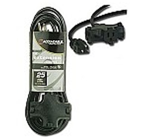 Elation EC163-3FER25G Heavy Duty 16 Gauge 25Ft Power Extension Gray Cable