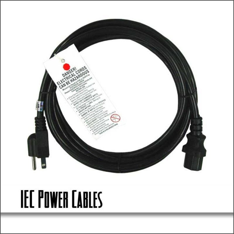 Blizzard IEC16/10 10ft 16 Gauge UL Listed IEC Power Cable (EC1610)