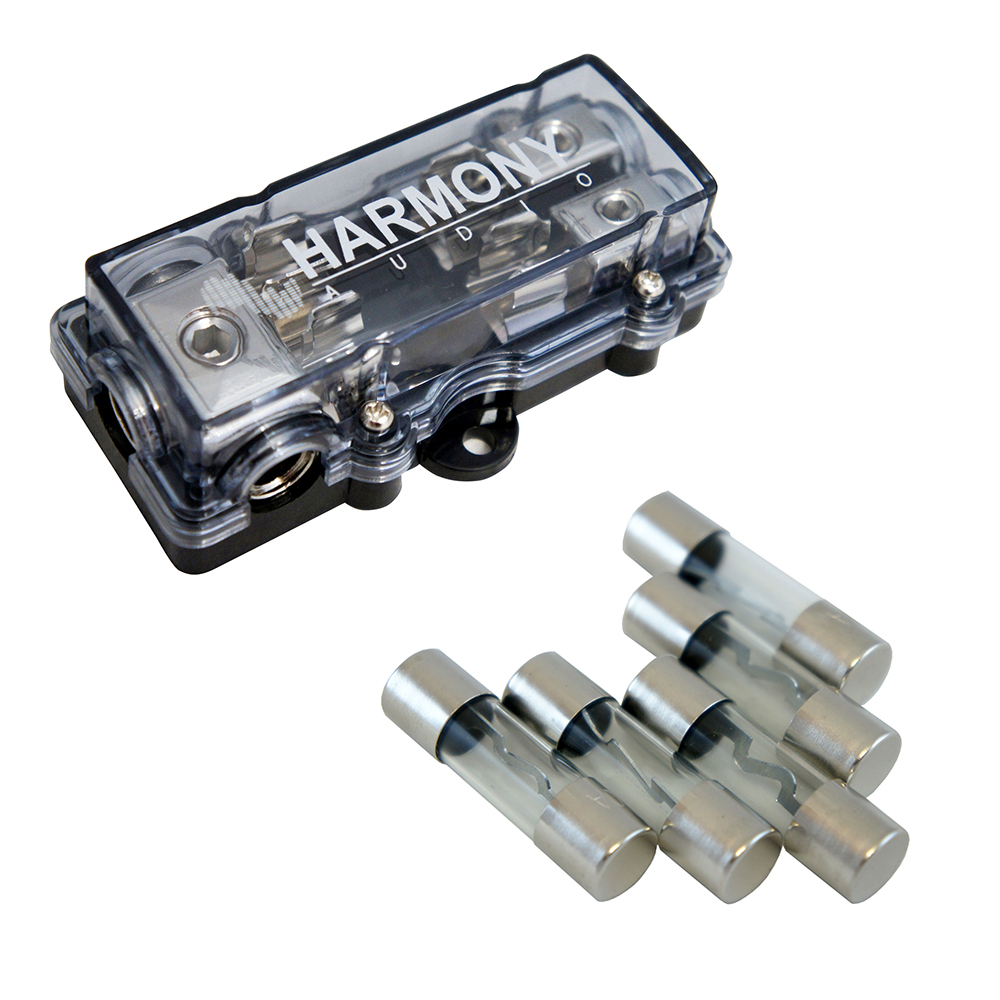 Harmony Audio HA-AGUFD2 Car 2-Way AGU Fused Distribution Block & 50 Amp Fuses