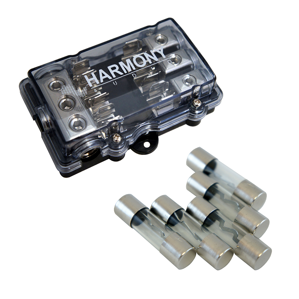 Harmony Audio HA-AGUFD3 Car 3-Way AGU Fused Distribution Block & 40 Amp Fuses