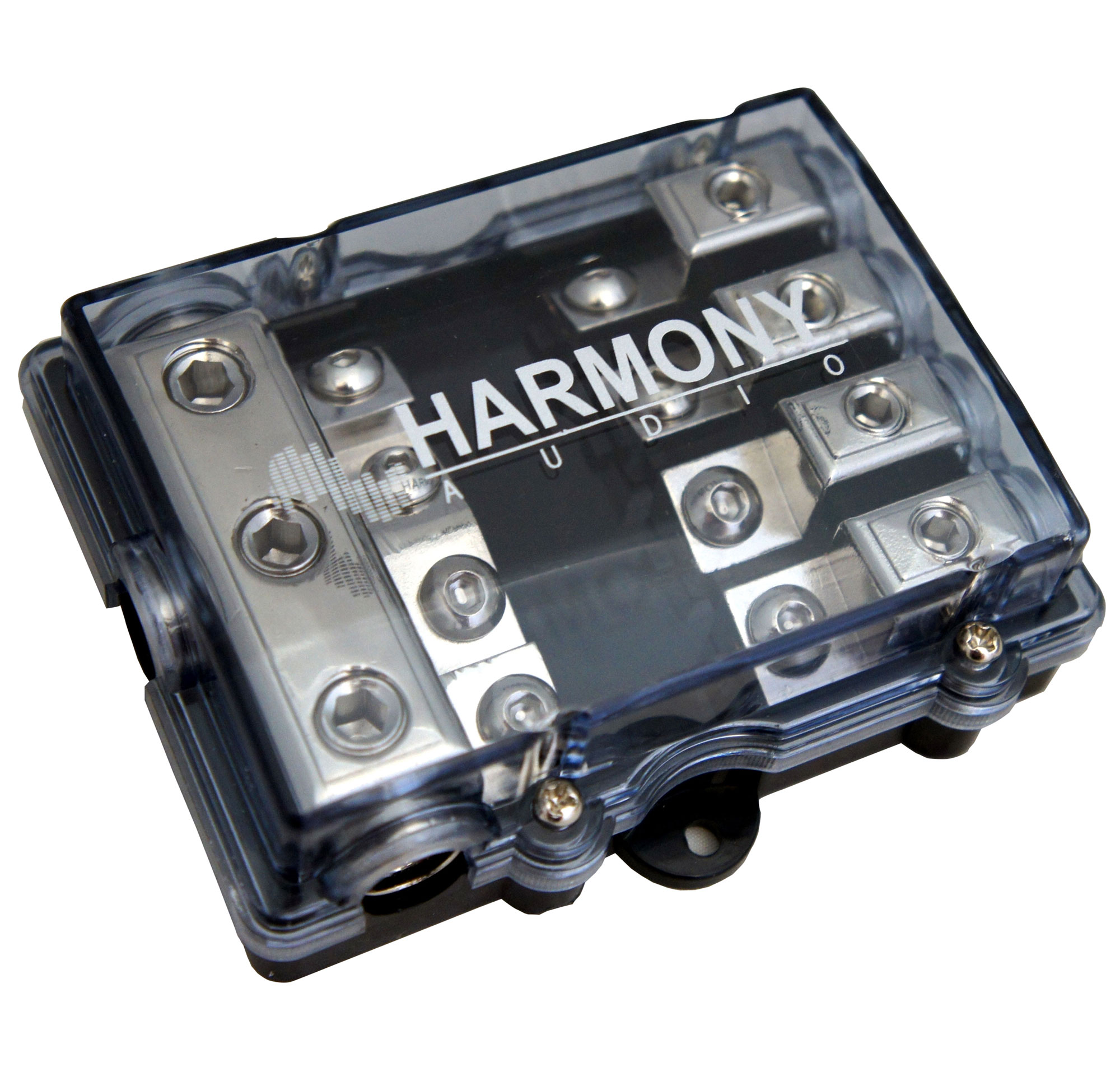 Harmony Audio HA-MIDIFD4 Car Stereo 4-Way Mini ANL MIDI Fused Distribution Block (3) 4GA IN - (4) 8GA OUT
