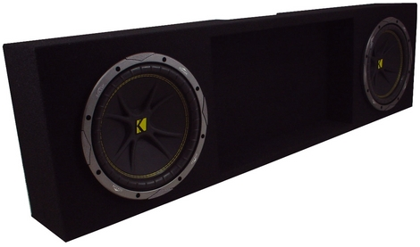 Dodge Dakota 97-04 Subwoofer Enclosure W/ Comp 10 Subs and ZX400.1 Amp