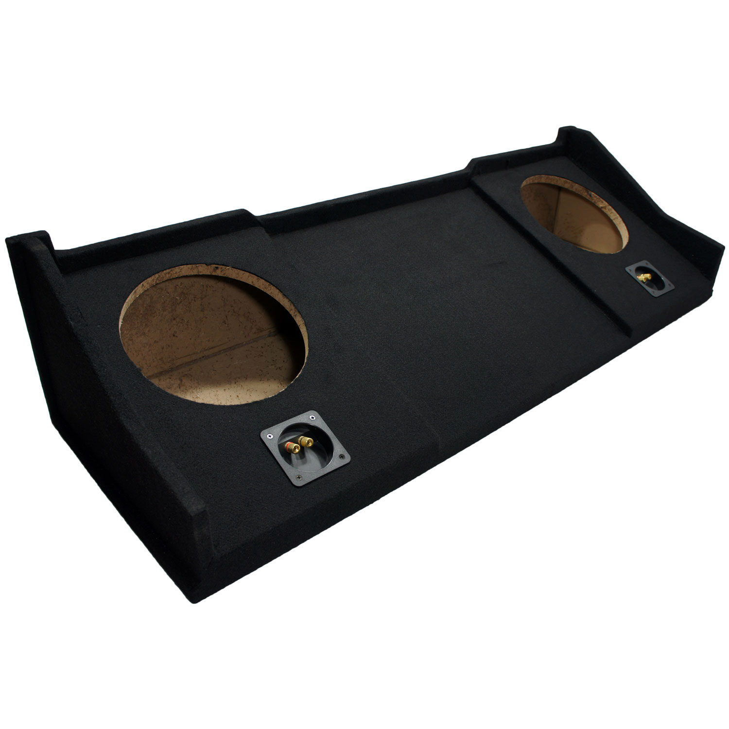 "Custom 98-01 Dodge Ram Extended Cab Dual 10"" Loaded Kicker C10 Subwoofer Box (10C10-4)"