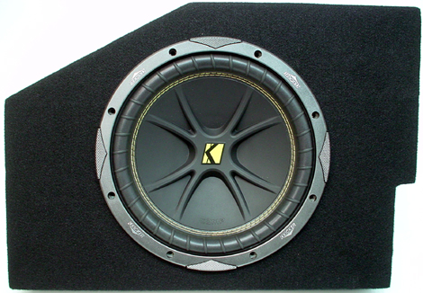 "Dodge Ram 02-08 Quad Cab Single 10"" C10 Subwoofer Box W/ ZX400.1 Amplifier"