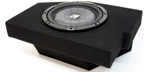 "Dodge Ram Quad Cab 02-12 10"" Loaded Kicker CVT10 Subwoofer Box 2 Ohm (10CVT10-2)"