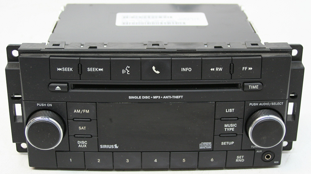 Dodge Challenger 2011 Factory AM/FM Stereo Sirius Ready MP3 CD Player OEM Radio
