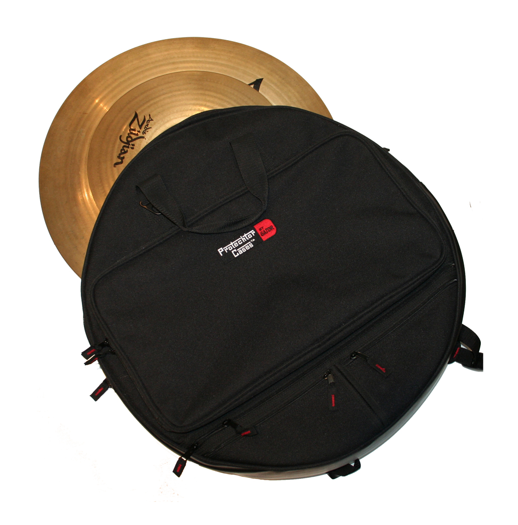 """Gator Cases GP-CYMBAK-24 24"""" CYMBAL BACKPACK Protechtor Percussion Bag with Padded Straps"""
