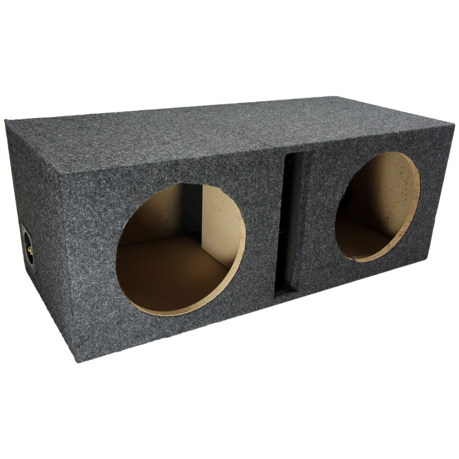 car audio dual 10 inch ported stereo subwoofer enclosure