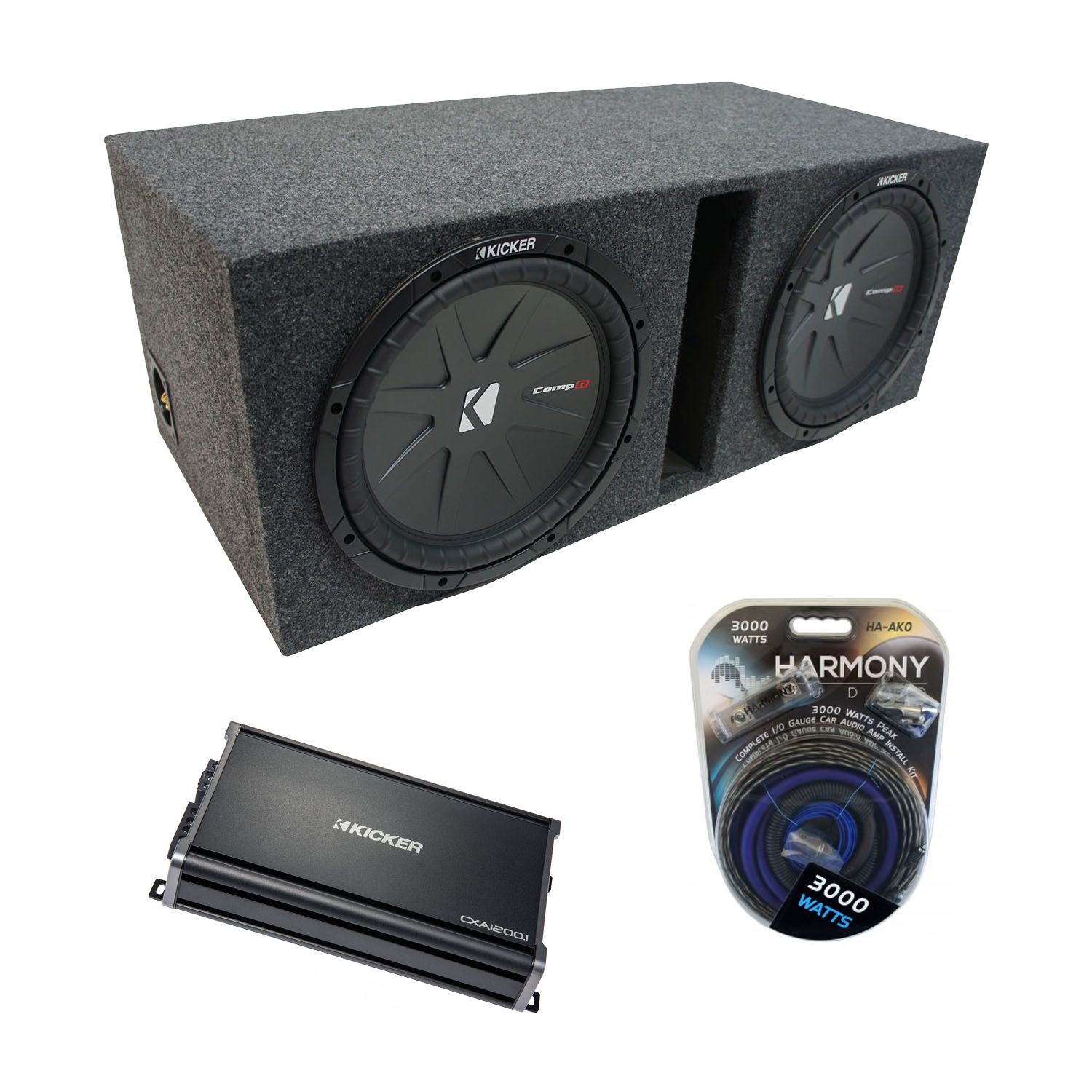 Luxury Kicker Dual 10 Car Subwoofer Adornment - Best Images for ...