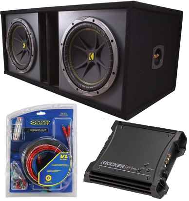 Dual Kicker 10 Inch Loaded Powered Subwoofer Box