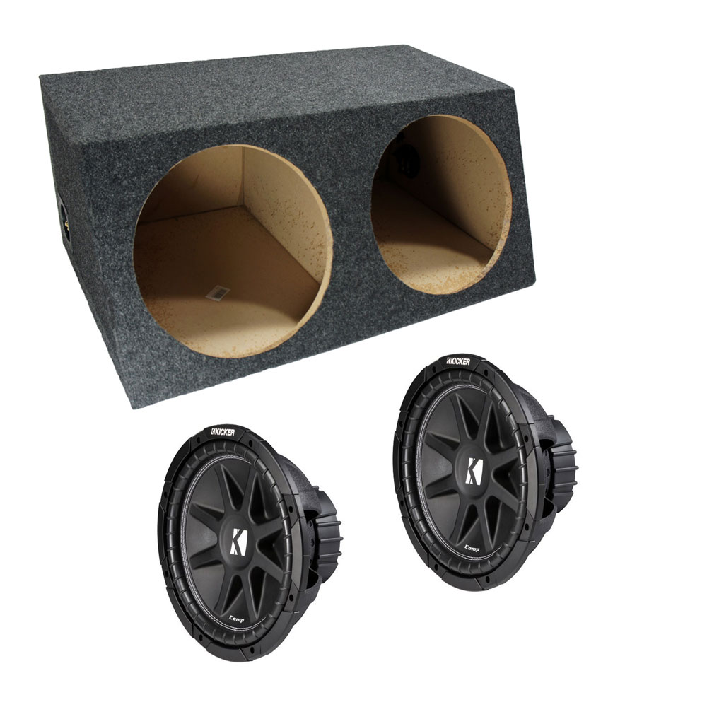 6293c7c88c1 Kicker Dual Comp C12 12 Inch Sealed High Performance Sub Woofer Box 2 Ohm  New