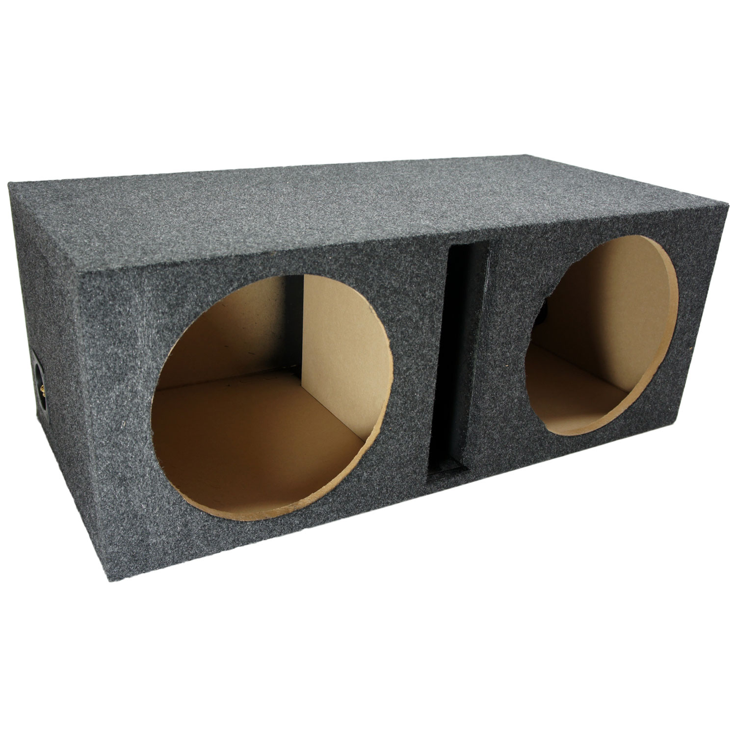"Car Audio Subwoofer Dual 12"" Vented Sub Box Enclosure"