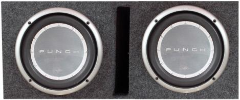 """Dual 12"""" Ported Subwoofer Box W/ Rockford Punch Series"""
