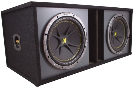 Dual 12 Sub Box Loaded W/ Comp 12 Kicker Subs